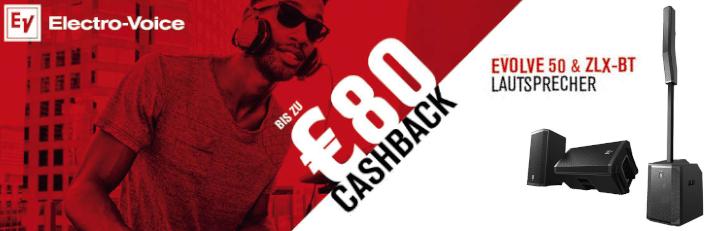 Electro Voice ZLX & Evolve 50 Cashback