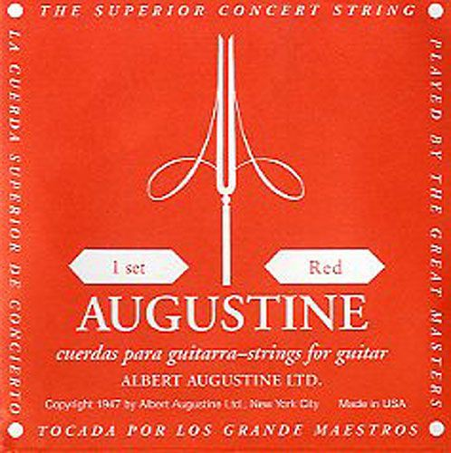 Augustine Red Medium Tension Einzelsaite 4  D