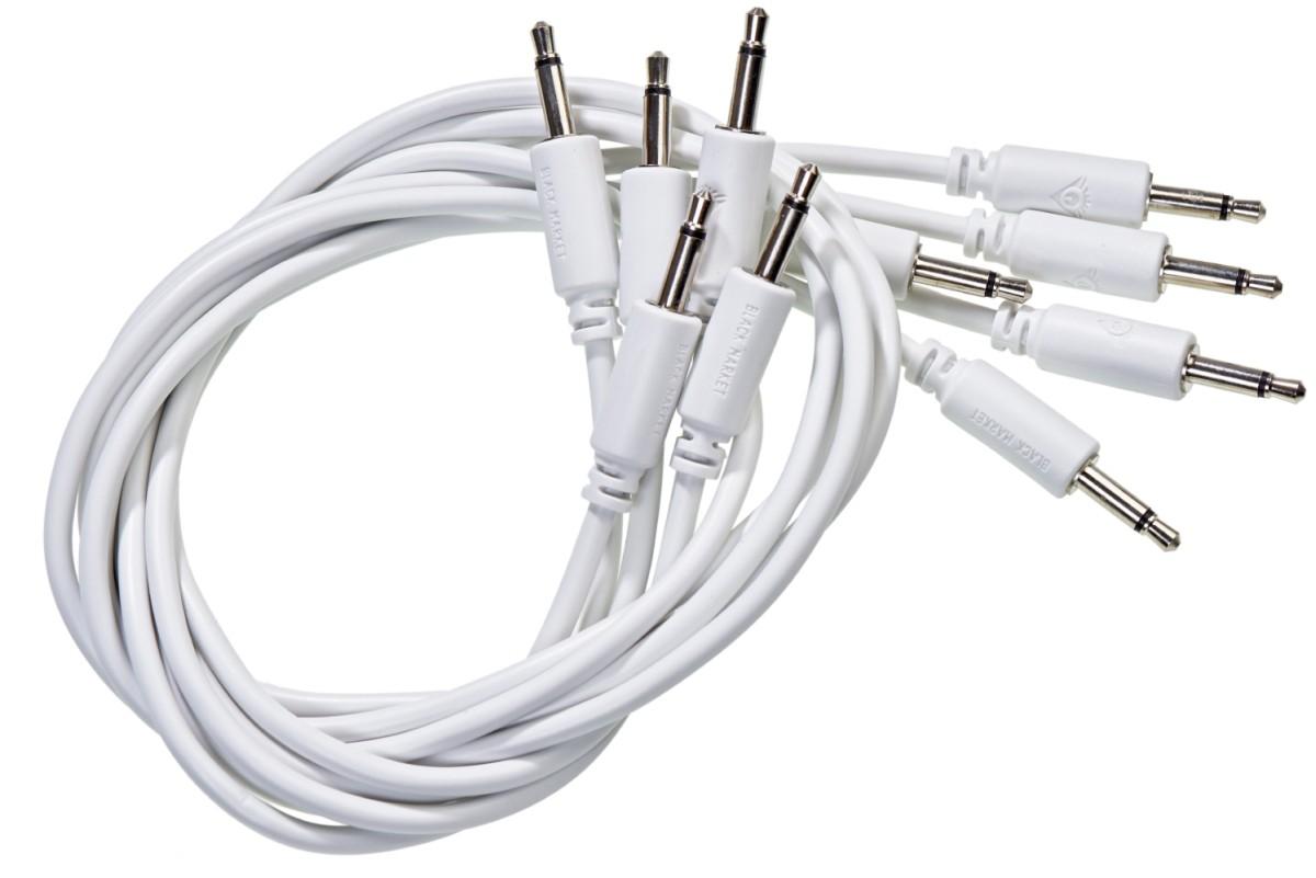 Black Market Modular Patch Cable 25cm white 5er