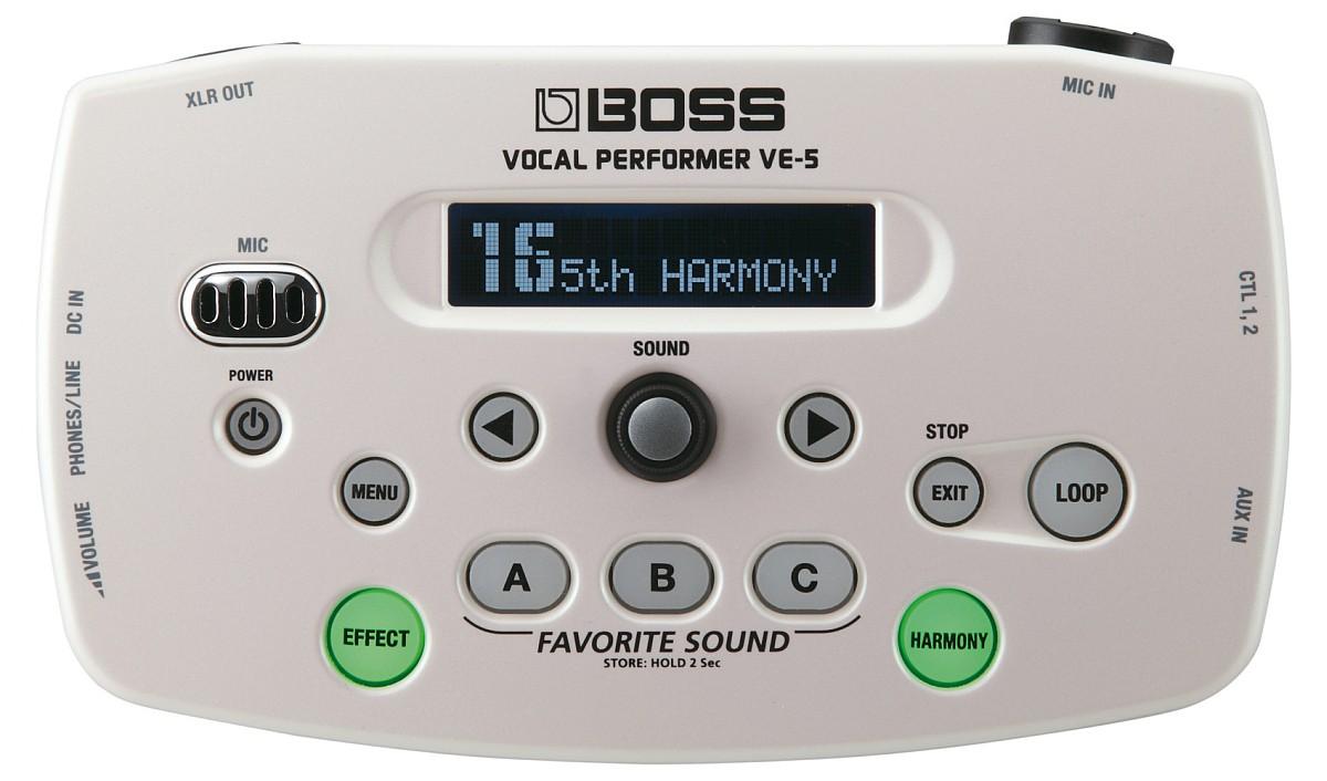 Boss VE 5 Vocal Processor white