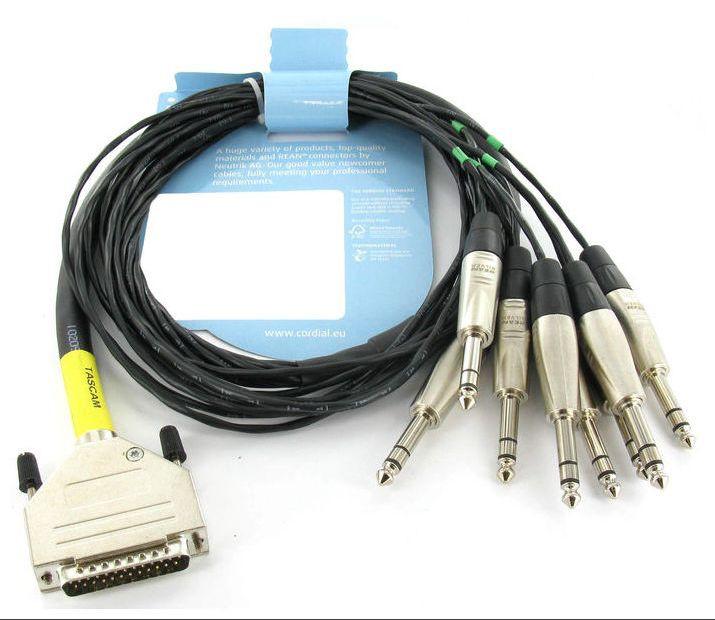 CORDIAL CFD 1 5 DVT D Sub25   Jack Sym