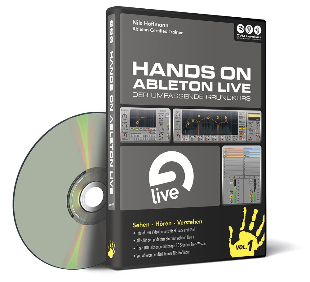 DVD Hands On Ableton Live Vol  1 Grundkurs