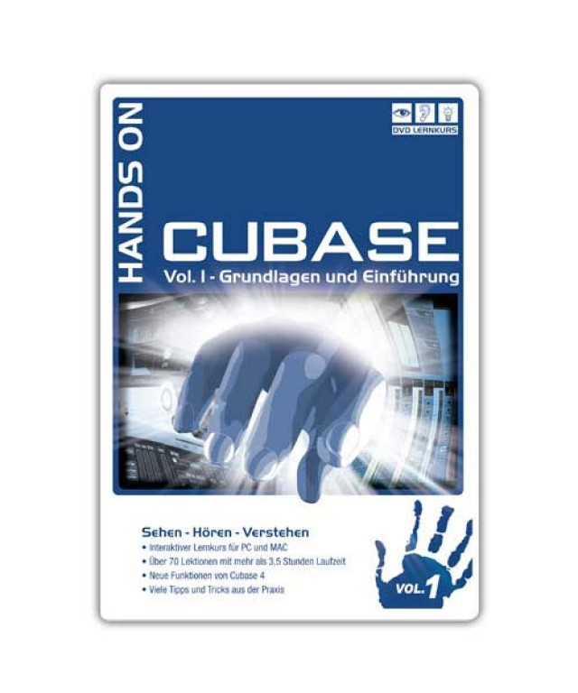 DVD Hands On Cubase Vol  1 Ausgabe 2011