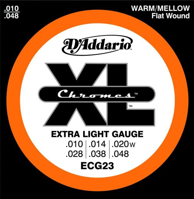 D Addario ECG23 El  Chromes Flat Wound  010    048