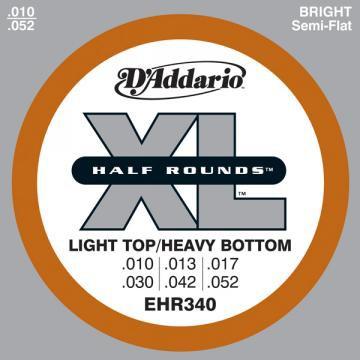 D Addario EHR340 El  Half Round Steel 10 52