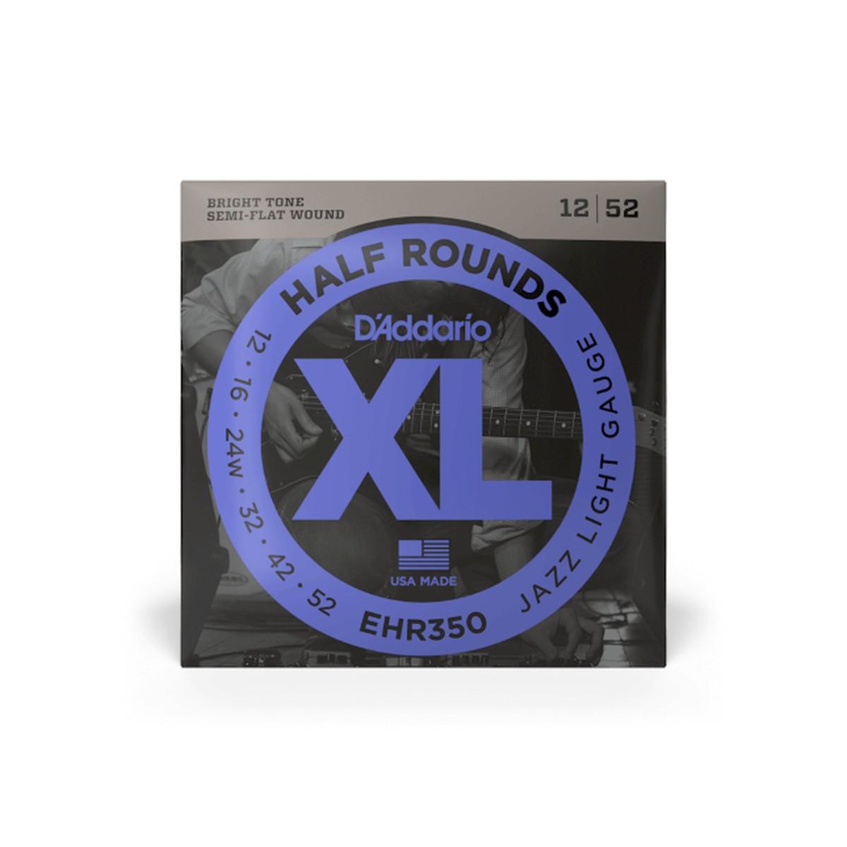 D Addario EHR350 El  Half Round Steel 12 52