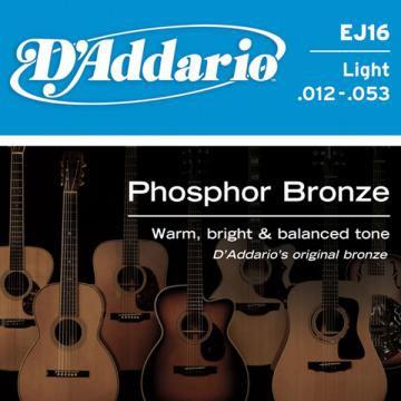 D Addario EJ16 Phosphor Bronze Wound  012    053