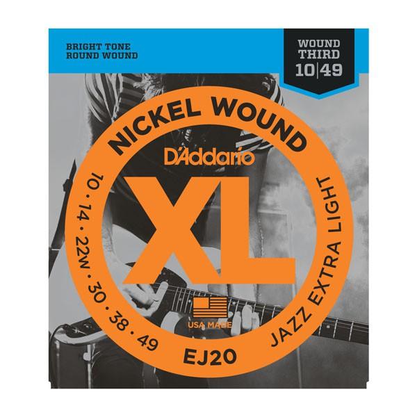 D Addario EJ20 El  Jazz Nickel Round Wound