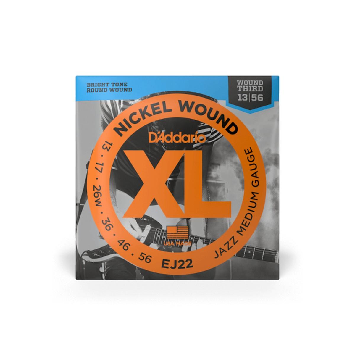 D Addario EJ22 El  Jazz Nickel Round Wound