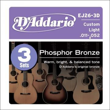 D Addario EJ26 3D Ac  Phosp Bronze  011   0 52 3er