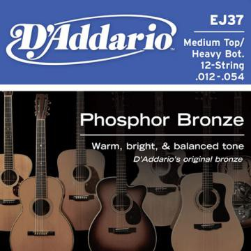 D Addario EJ37 Ac  Ph Bronze  012    054 12 String