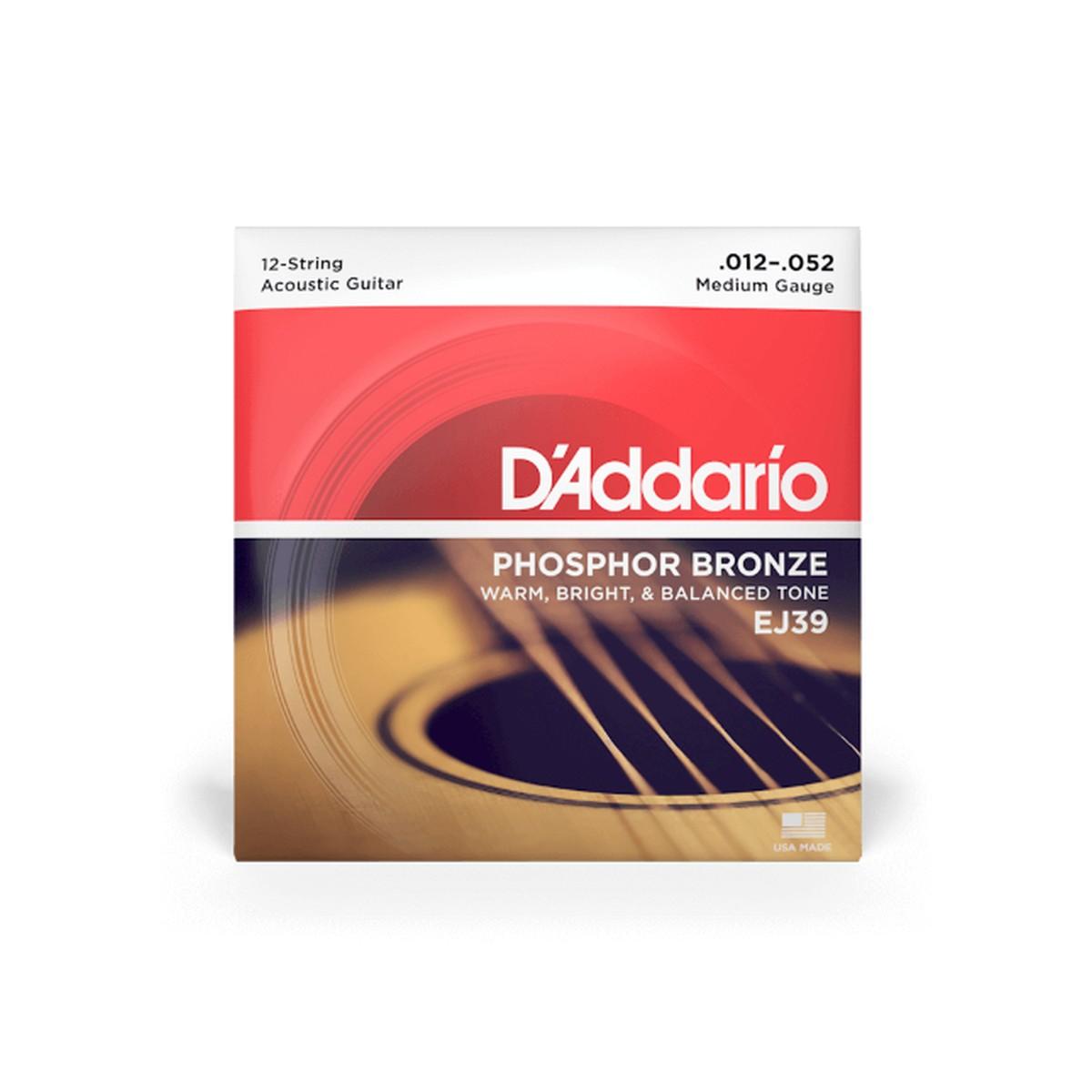 D Addario EJ39 Ac  Ph Bronze  012    052 12 String