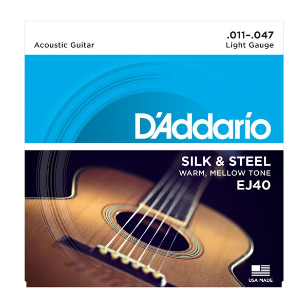 D Addario EJ40 Ac  Folk Silk   Steel