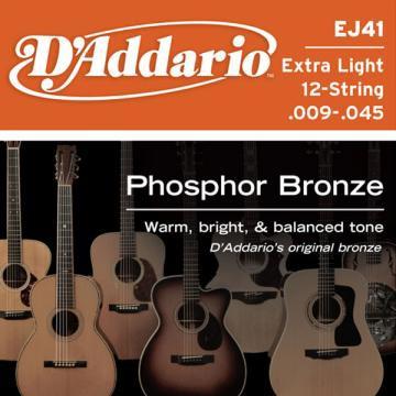D Addario EJ41 Ac  Ph Bronze  009    045 12 String