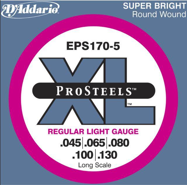 D Addario EPS170 5 Round Wound LS 45 130