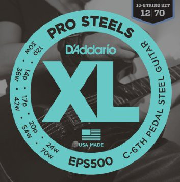 D Addario EPS500 Pro Steels C 6th Pedal Steel