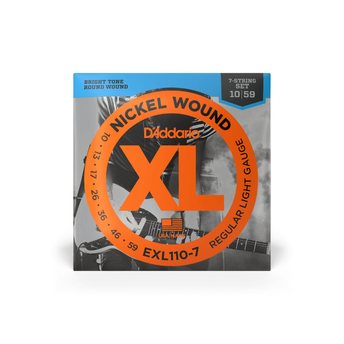 D Addario EXL110 7 7 String Nickel  010    059
