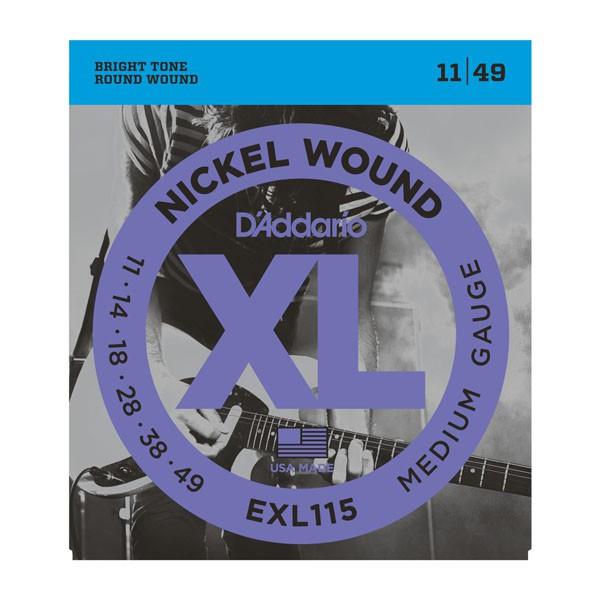 D Addario EXL115 Nickel Round Wound  011    049