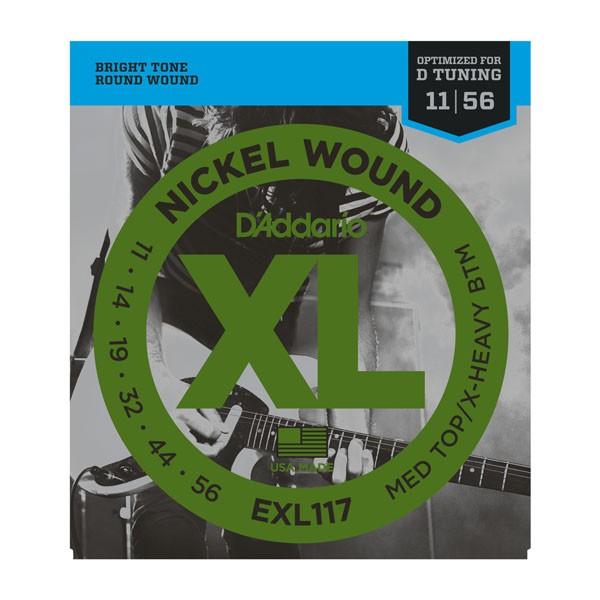 D Addario EXL117 Nickel Round Wound  011    056