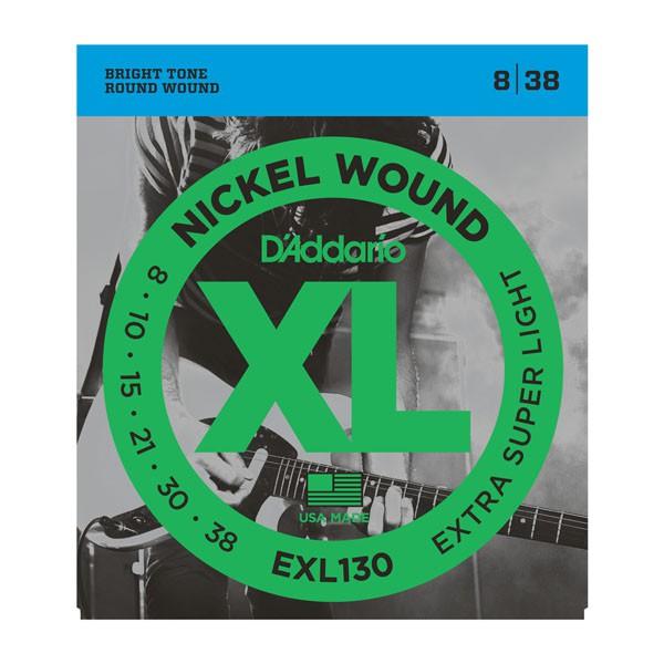 D Addario EXL130 Nickel Round Wound  008    038