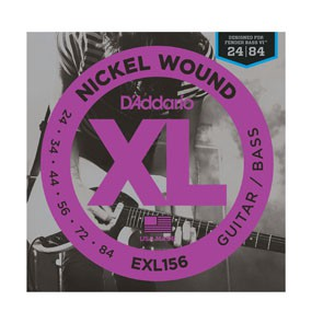 D Addario EXL156 Nickel Fender Bass VI  24 84