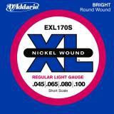 D Addario EXL170S Shortscale Nickel  045    100