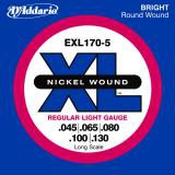 D Addario EXL170 5 Longscale 5 String  045    130