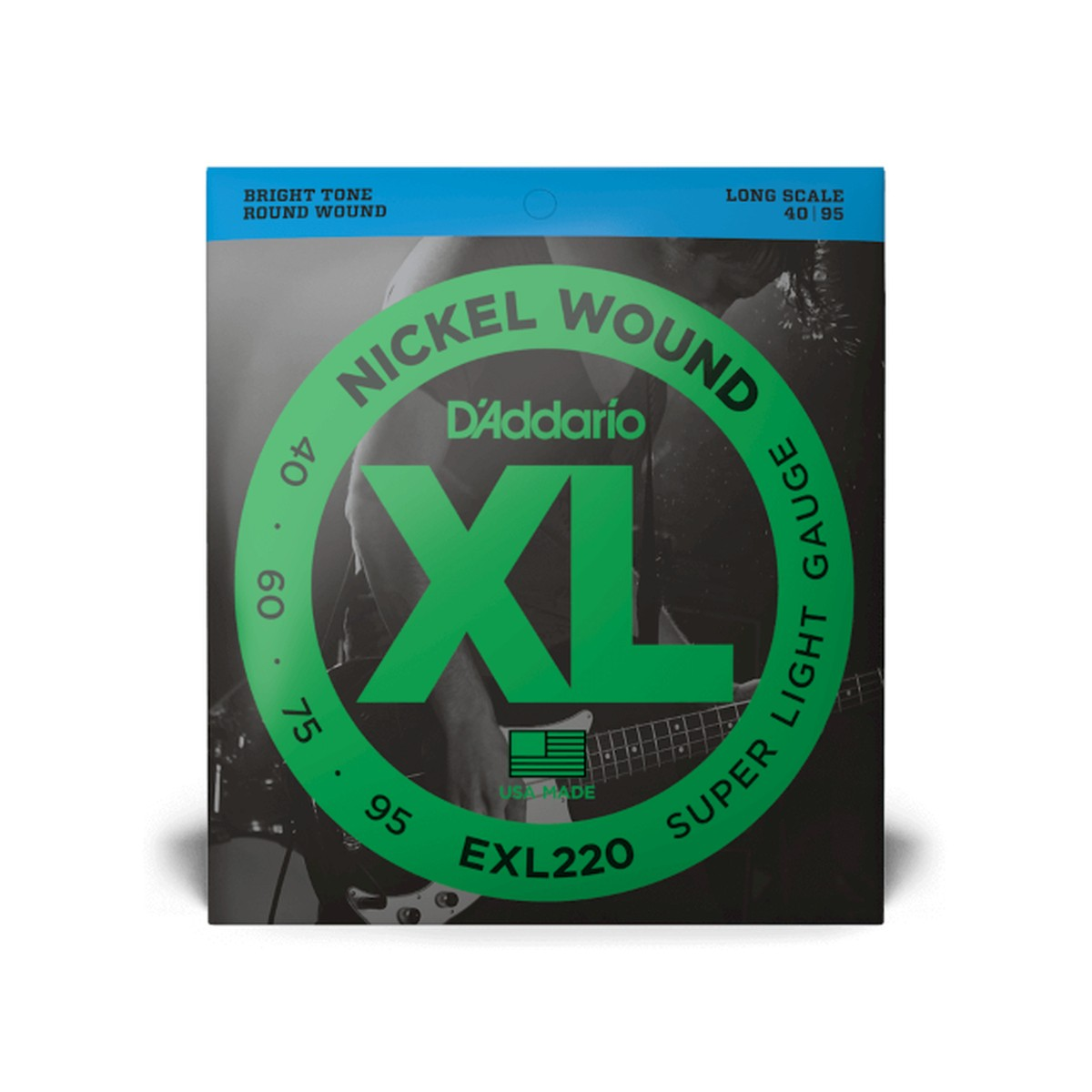 D Addario EXL220 Superlight Longscale  040    095