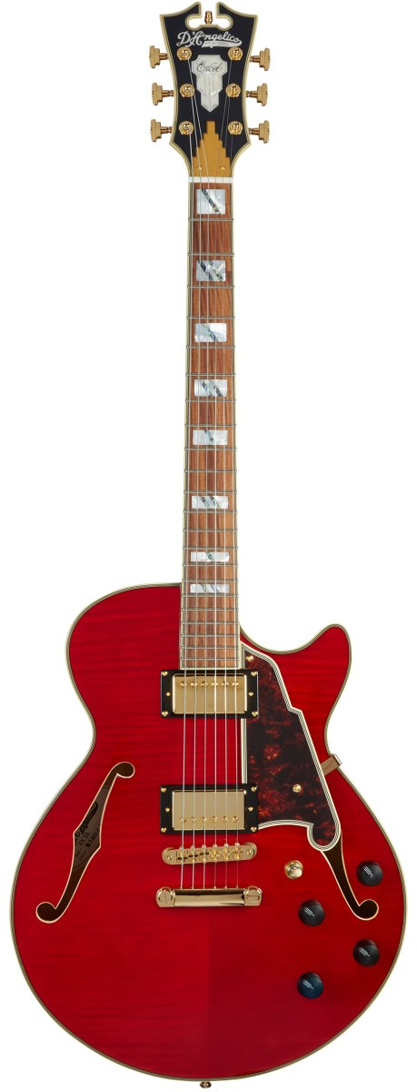 D Angelico Excel SS Cherry Stop Bar