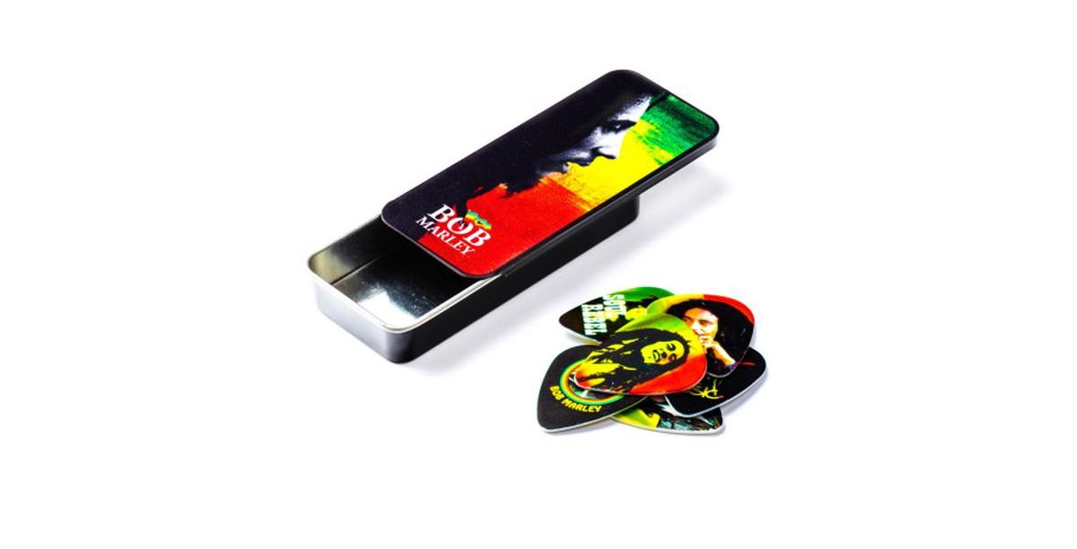 Dunlop Bob Marley 6er Tin Box  Rasta  Heavy