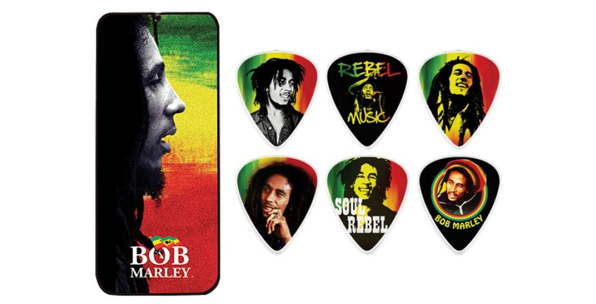 Dunlop Bob Marley 6er Tin Box  Rasta  Medium