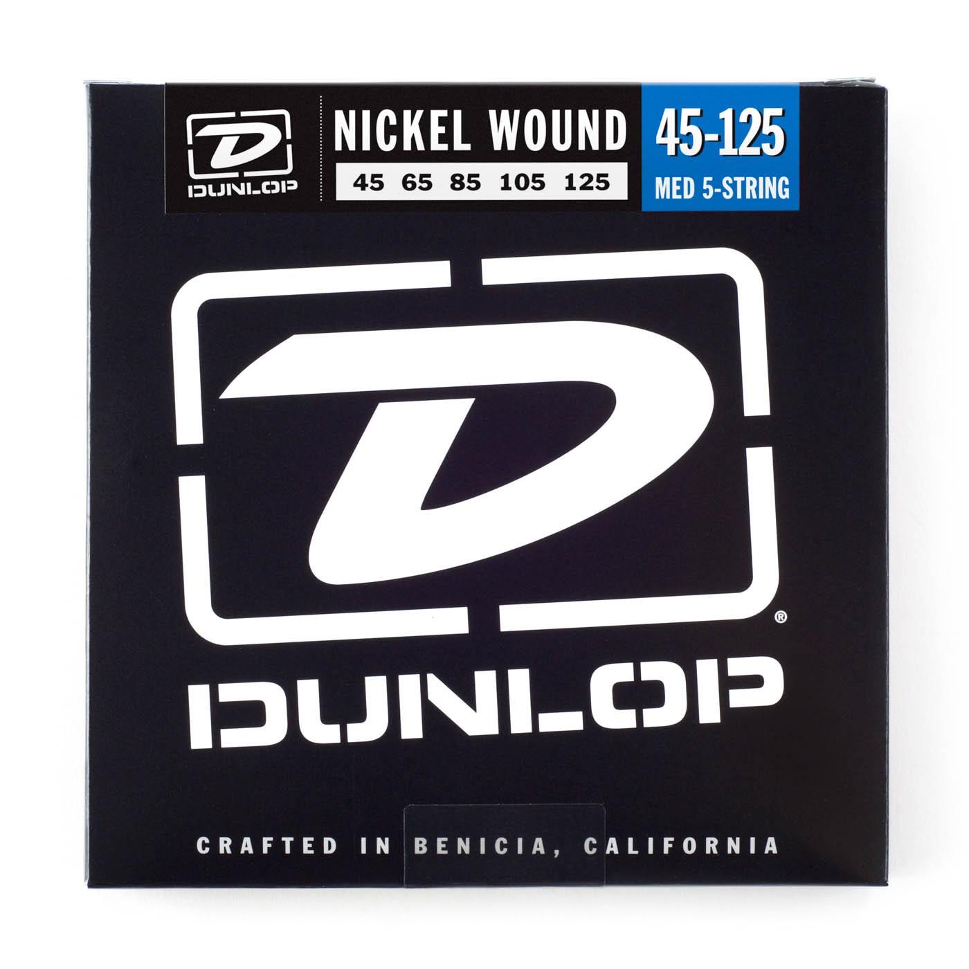 Dunlop DBN45125  045    125 Longscale Nickel Pl