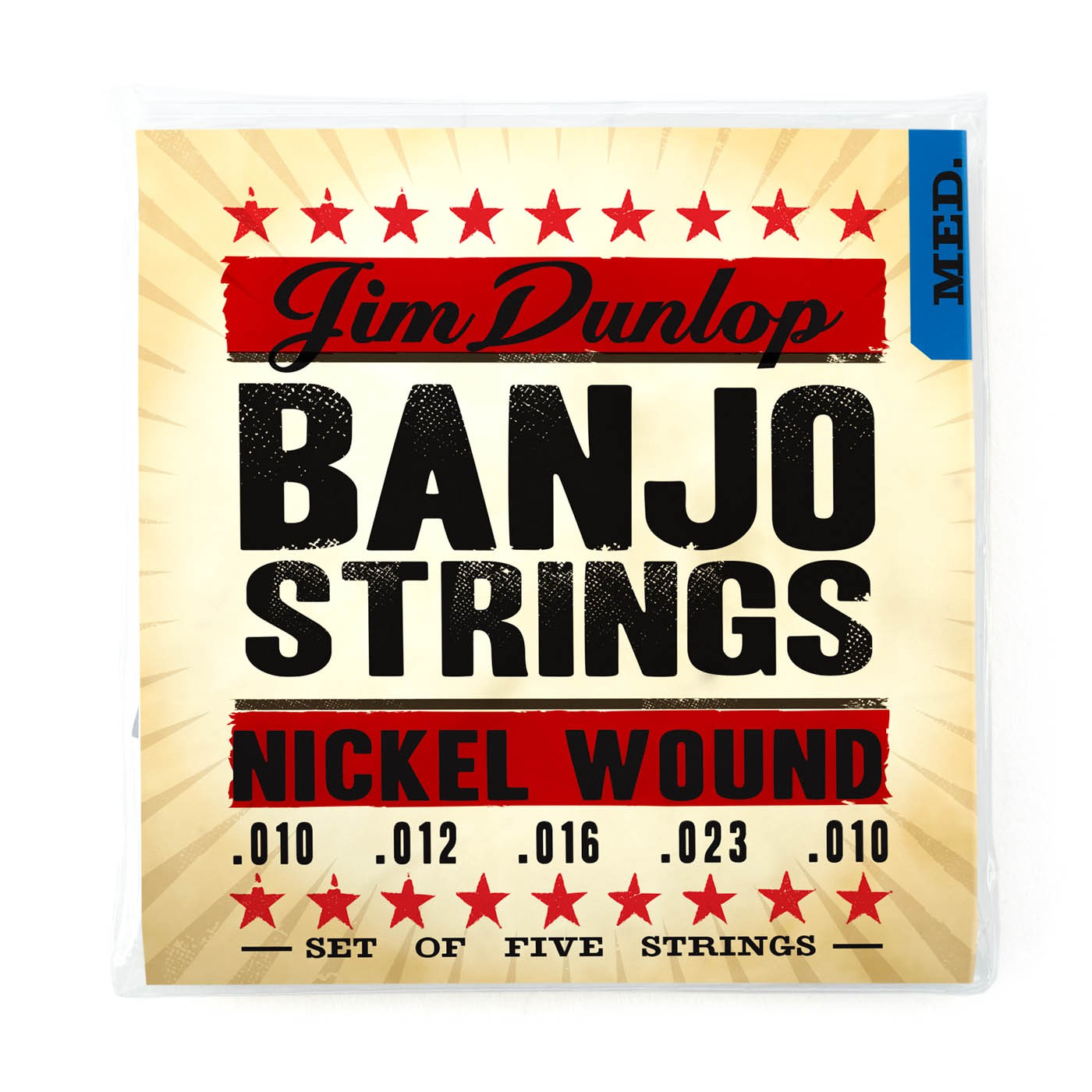 Dunlop DJN1023 Banjo 5 String  010    023 Nickel W