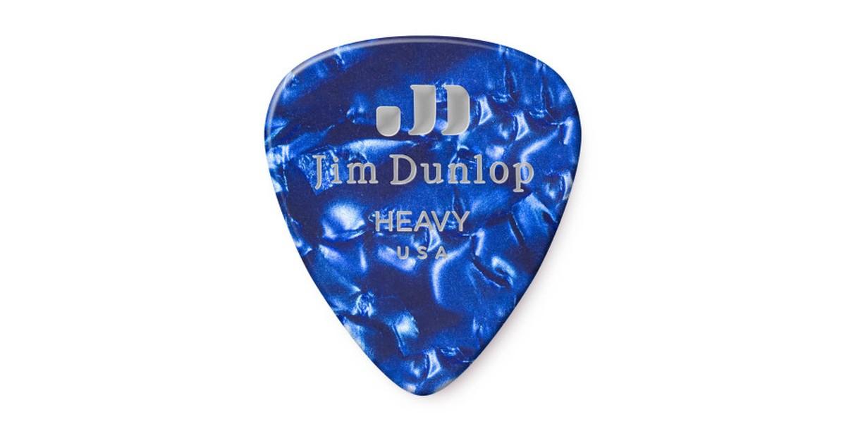 Dunlop Genuine Celluloid Blue Pearl Heavy 12er