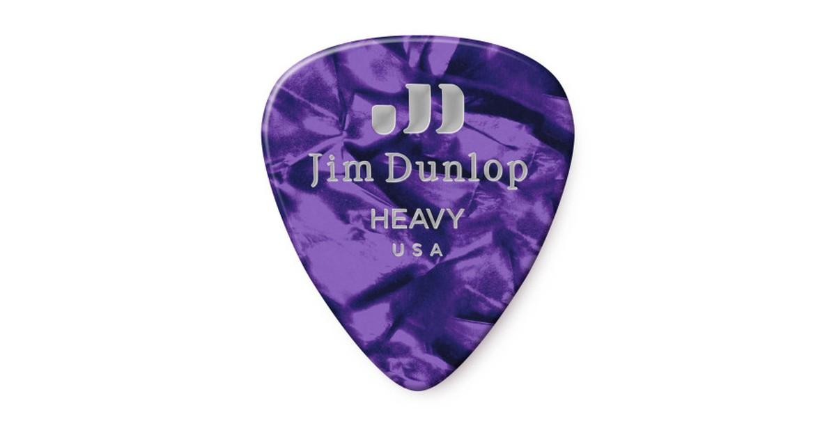 Dunlop Genuine Celluloid Purple Heavy 12er Bag