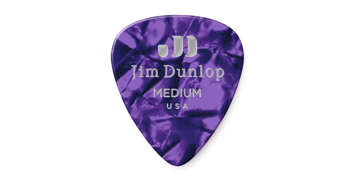 Dunlop Genuine Celluloid Purple Medium 12er Bag