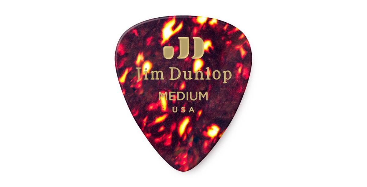 Dunlop Genuine Celluloid Shell Medium 12er