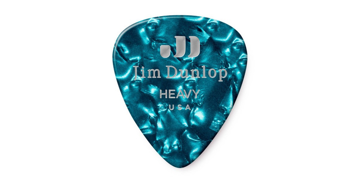 Dunlop Genuine Celluloid Turquoise Heavy 12er