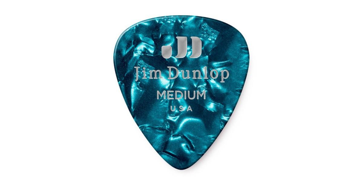 Dunlop Genuine Celluloid Turquoise Medium 12er