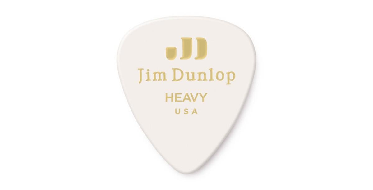 Dunlop Genuine Celluloid white heavy 12er