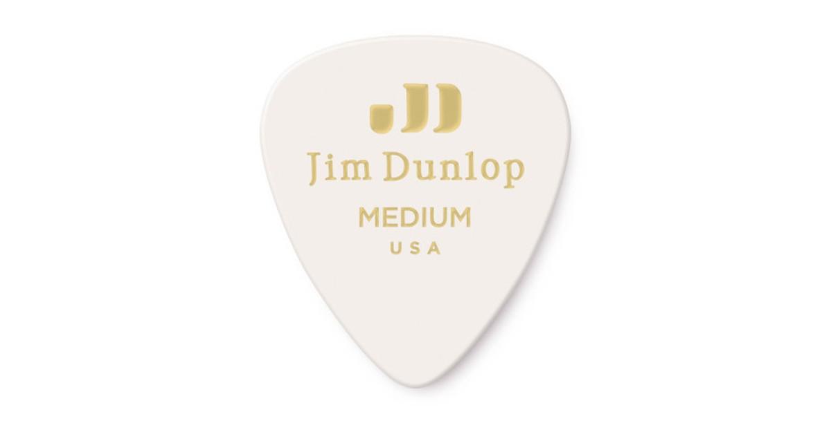 Dunlop Genuine Celluloid white medium 12er
