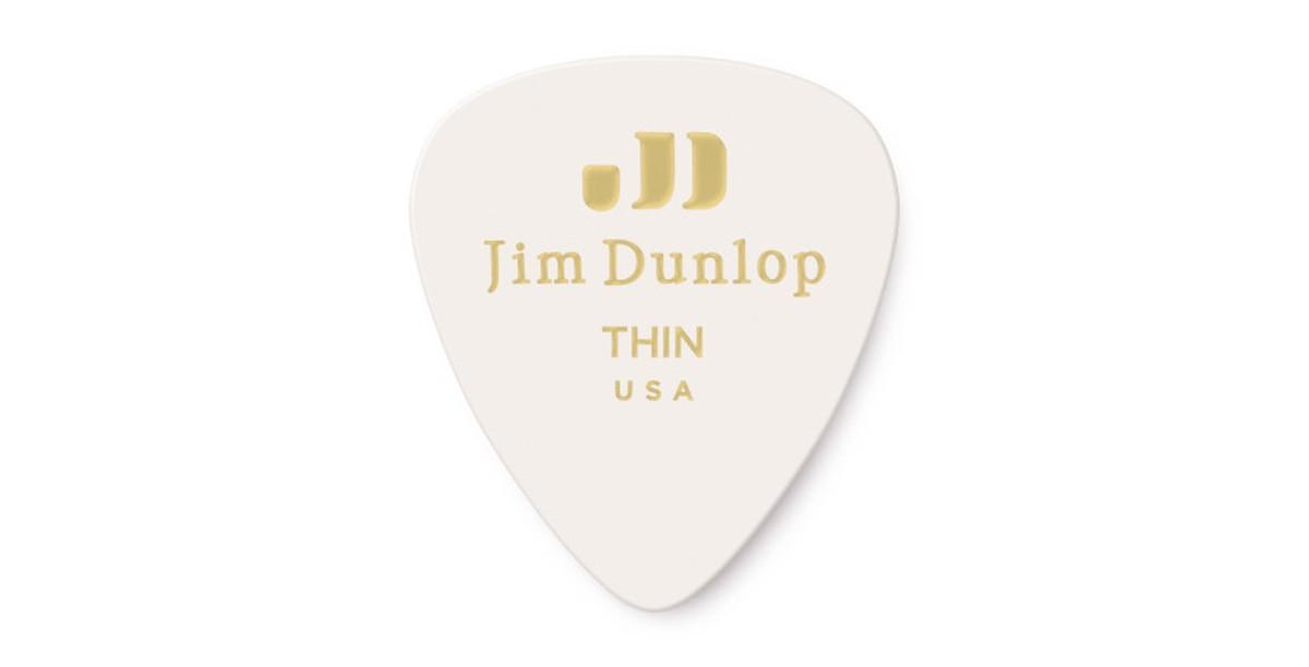 Dunlop Genuine Celluloid white thin 12er