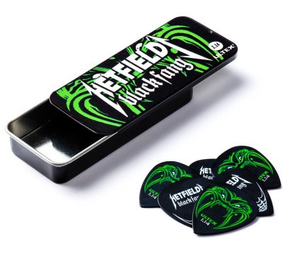 Dunlop Hetfield Black Fang Picks 1 14mm Tin Box 6e