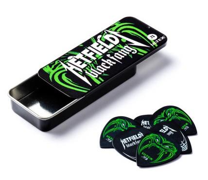 Dunlop Hetfield Black Fang Picks  73mm Tin Box 6er