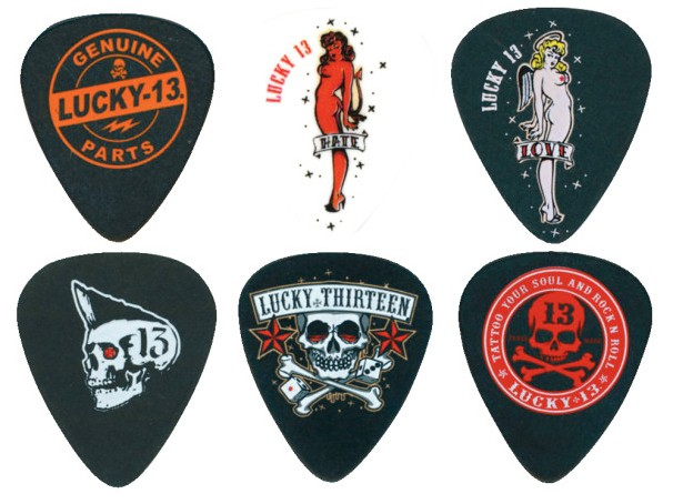 Dunlop Lucky 13 Series II  60 mm 6 Picks