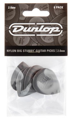 Dunlop Nylon Big Stubby 2 0mm Grey 6er Bag