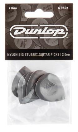 Dunlop Nylon Big Stubby 2 0mm Grey 6er Bag