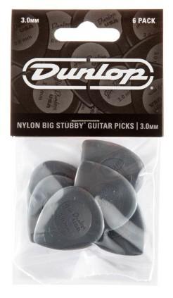 Dunlop Nylon Big Stubby 3 0mm Dark Grey 6er Bag