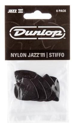 Dunlop Nylon Jazz IIIs Black 1 38mm 6er Bag 47P3S