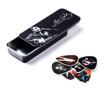 Dunlop Polys Pick Elvis 68 Tin Box Medium 6er